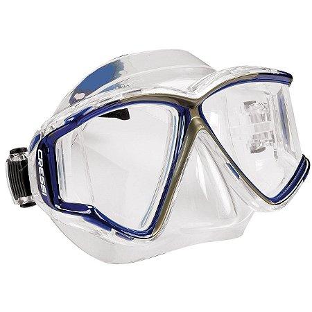 Máscara de Mergulho Pano 4 - Transparente/Azul - Cressi
