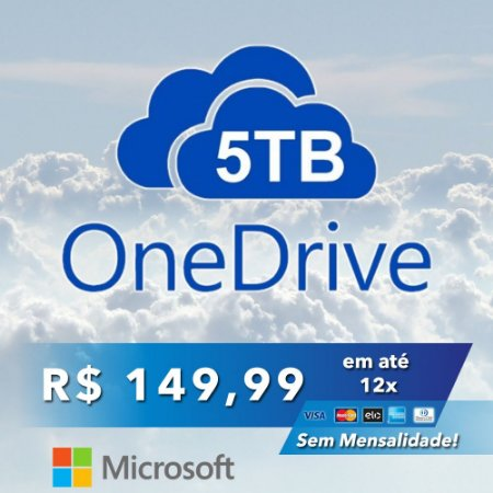 OneDrive 5TB Nuvem Microsoft