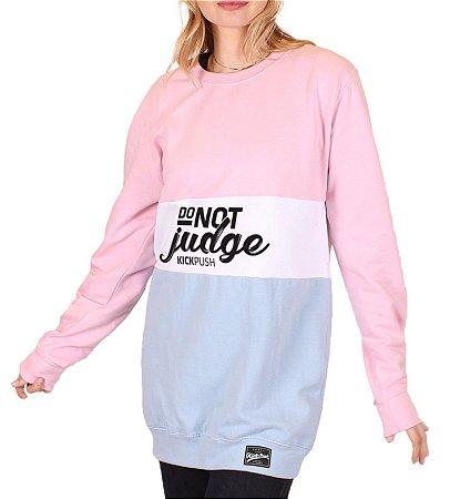 Moleton Do Not Judge Feminina