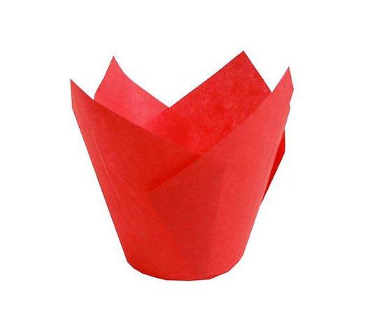 Forminhas Tulipas para CupCake – Vermelho - 100UN - R$ 0,34 Unitário