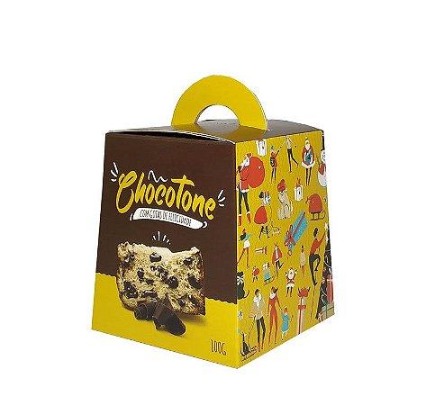 Caixa para Panetone de Chocolate -  100 Grs - R$ 1,50 a unidade