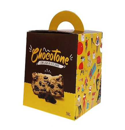 Caixa para Panetone de Chocolate - 250 Grs - R$ 1,83 a unidade