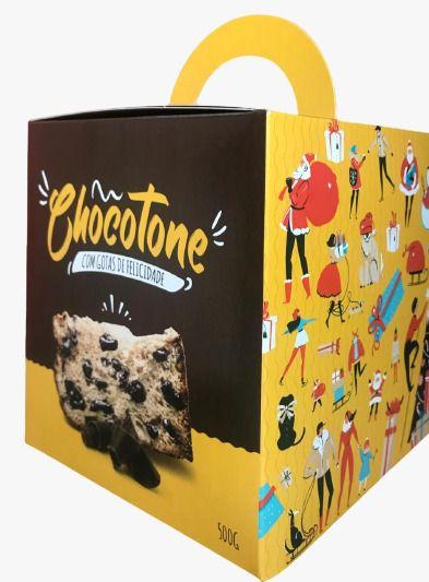 Caixa para Panetone de Chocolate -  500 Grs - R$ 2,41 a unidade