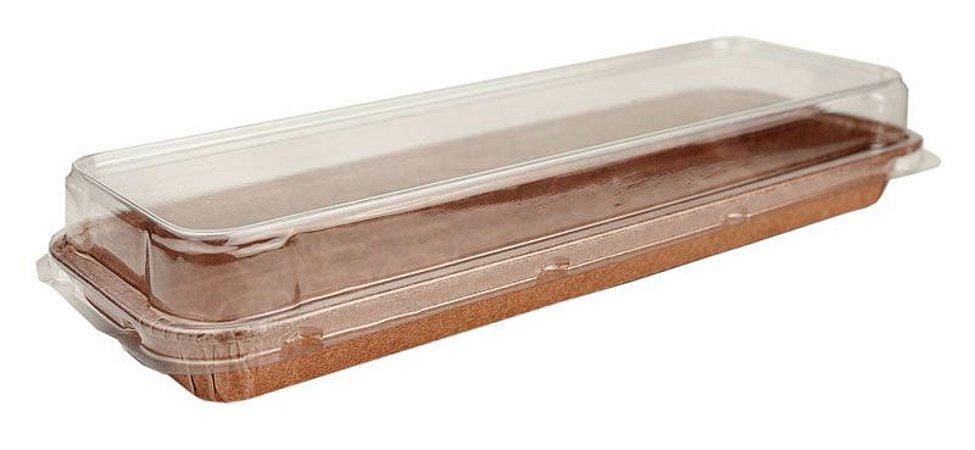 Formas Forneáveis p/ Torta Pie  Retangular com Tampa - TAM- 272x82x22– Pcto. 10UN - R$ 4,01 Unitário