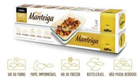 Papel manteiga - Importado- Tam. 40x60- Branca - Pacote com 10 folhas- Unitário 1,19 cada.