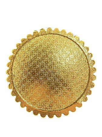 Cake Board 320mm -  Dourado - 1 unid