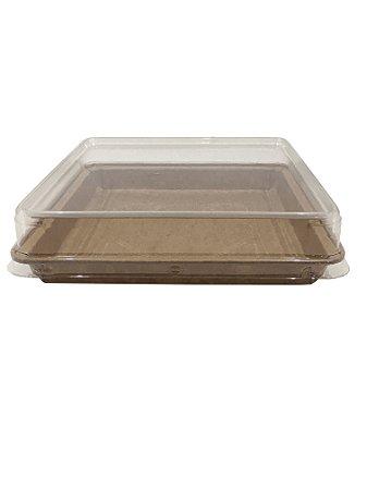 Forma forneável para Torta/Brownie Tam. G - Com Tampa – 10UN - R$ 3,26 Und.