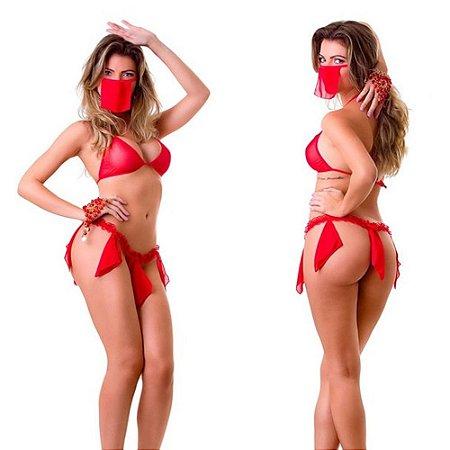Fantasia Odalisca Sexy Feminina Pimenta Sexy