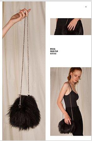 Bolsa Faux Fur Black