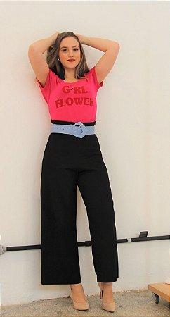 T shirt Girl Flower