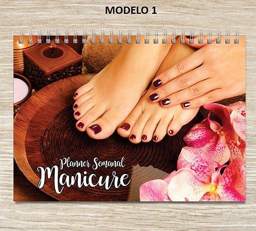 Agenda De Serviços Manicure Salão Beleza - Capa Dura + wire-o