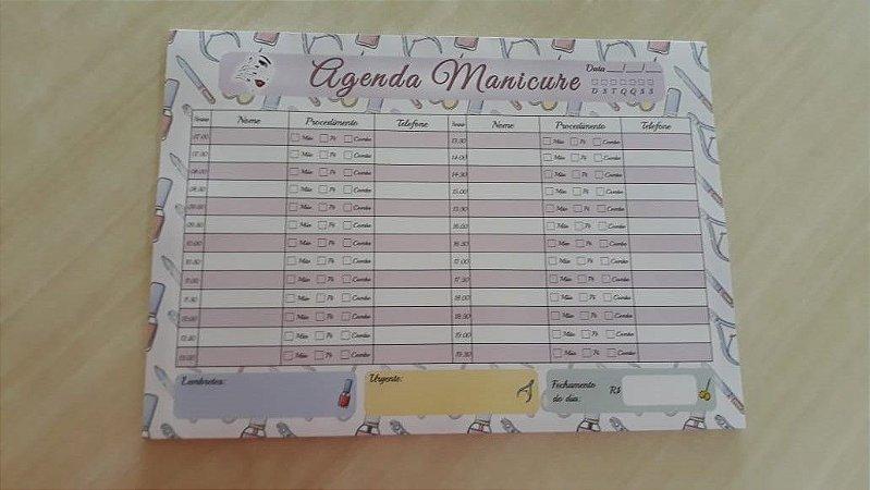 Agenda Manicure de Mesa Personalizada