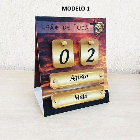 Calendário Permanente P/ Mesa Leão De Judá