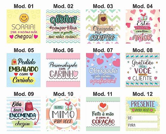 120 Cartão De Agradecimento / Tags (diversos Modelos)