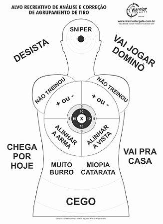 ALVO RECREATIVO ZUEIRA - CÓD A160 (Pacote c/ 10 Alvos)