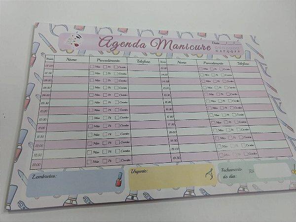 Agenda Manicure de Mesa Personalizada Colorida