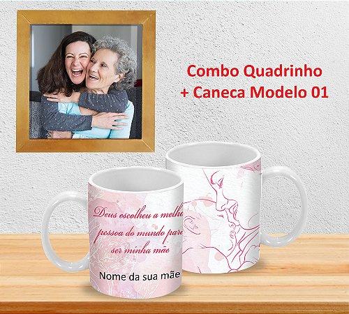 Caneca 325ml + Quadrinho Decorativo (PERSONALIZADOS)