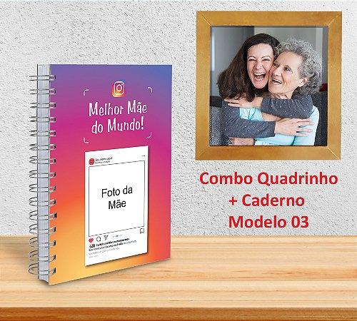 Caderno 15x21 + Quadrinho Decorativo (PERSONALIZADOS)