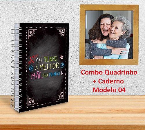 Caderno 15x21 (Diversos Modelos) + Quadrinho Decorativo (PERSONALIZADO)