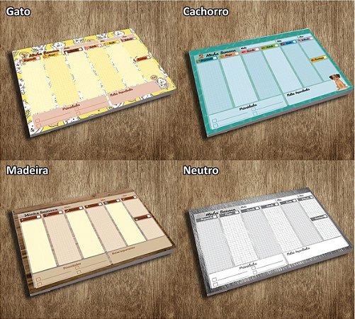 10 Planner De Mesa Semanal Permanente A5 (Diversos Modelos)