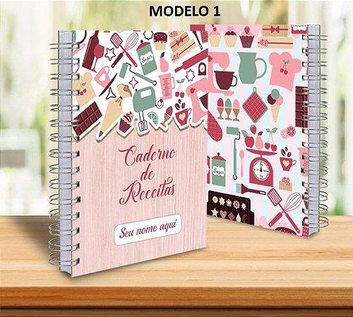 Caderno de Receitas Personalizado com Nome - 18x24