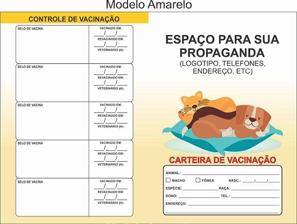 Carteirinha De Vacinação Pet Personalizada C/ 100 Unidades