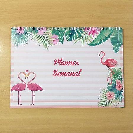 Planner Mesa Semanal A4-c/capa+wire-o (a Escolher)