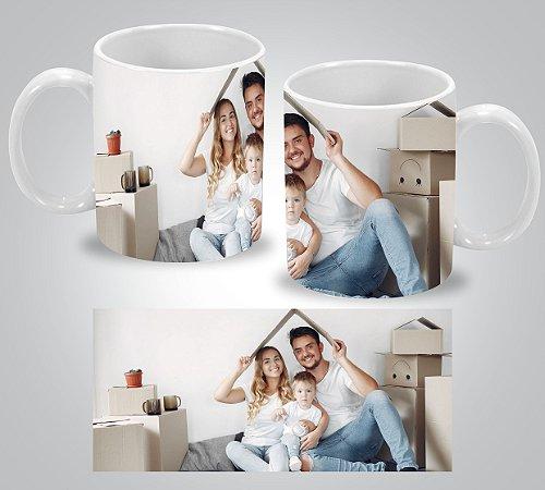 Caneca Porcelana Personalizada com Nome e/ou FOTO-325ml