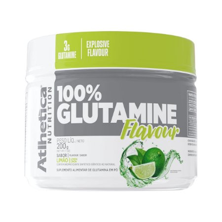 100% Glutamine Flavour 200g - Atlhetica Nutrition