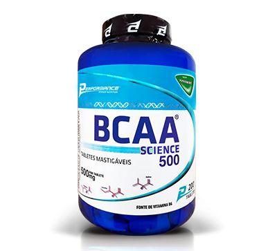 BCAA SCIENCE 500MG - 200 TABLETES MASTIGÁVEIS - PERFORMANCE NUTRITION