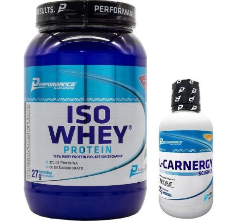 Iso Whey 900g + L-Carnergy 474ml - Performance Nutrition