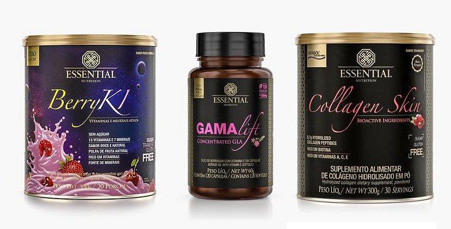 Combo Poder Feminino - BerryKi 300g + GamaLift 120 Softs + Collagen Skin 300g