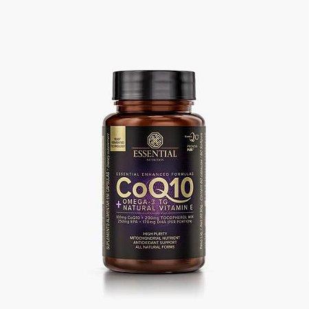 COQ10 - 60 Cápsulas - Coenzima Q10 + Omega-3 TG + Natural Vitamin E - Essential Nutrition