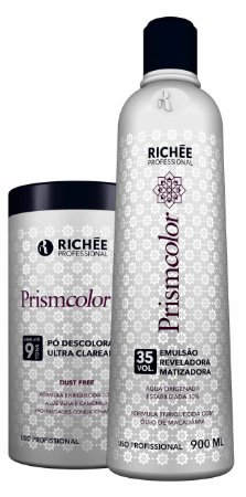 Richée Pó Descolorante e Água Oxigenada 35 vol PrismColor Kit