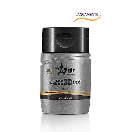 Magic Color Mini Gloss Matizador 3D Blond Black - Efeito Grafite 100ml