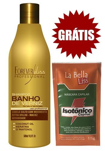 Shampoo Banho de Verniz 500ml - Forever Liss
