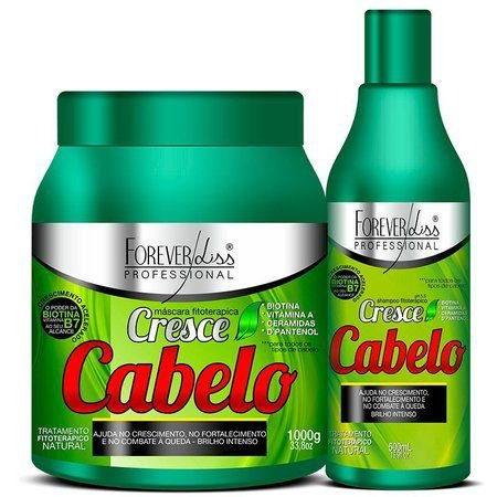 Kit Cresce Cabelo Shampoo 500ml + Máscara de 1K - Forever Liss
