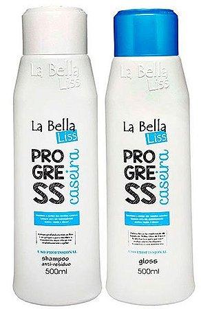 Progressiva Caseira La Bella Liss Shampoo e Gloss Kit 2X500ml