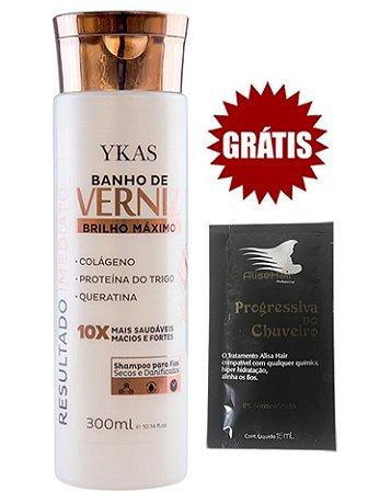 Shampoo Banho de Verniz Ykas Brilho Máximo 300ml