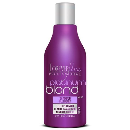Forever Liss Platinum Blond Shampoo Matizador Blueberry 300ml