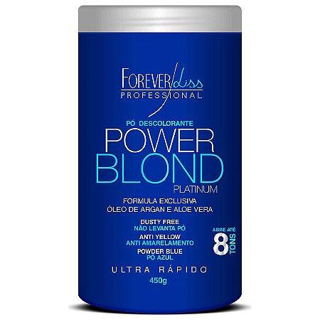 Forever Liss Power Blond Pó Descolorante Platinum Azul 450g