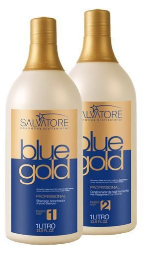 Salvatore Blue Gold Escova Progressiva 2 Passos 1L Cada