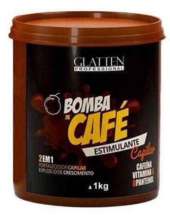 Glatten Professional Bomba de Café Máscara Estimulante Capilar 1K