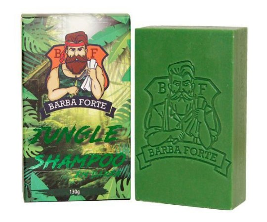 Shampoo Em Barra Jungle Barba Forte 130g