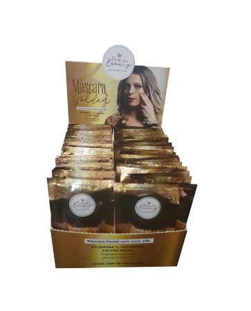 Máscara Facial Golden Com Ouro 18K New Beauty C/ 70