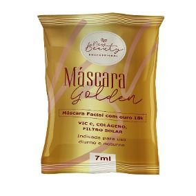 Máscara Facial Golden Com Ouro 18K New Beauty 7ml