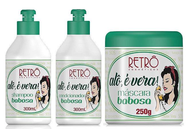 Kit Babosa Alô é Vera Reconstrutor Retrô Cosméticos 300ml