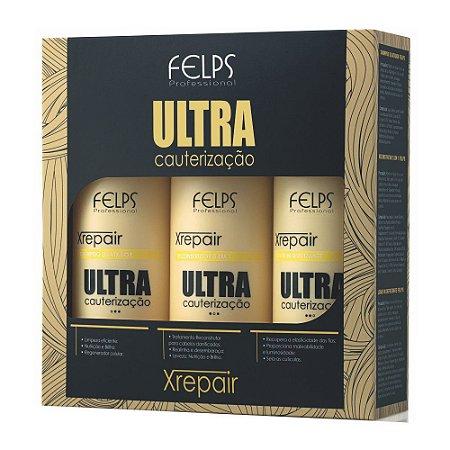Kit Xrepair Ultra Cauterização Felps Profissional 3x500ml
