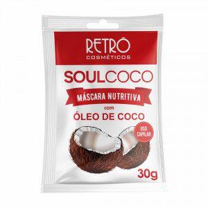 Soul Coco Máscara Nutritiva Sachê Retrô Cosméticos 30g