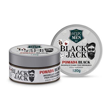 Pomada Black Jack Felps Men Black Efeito Temporário 120g